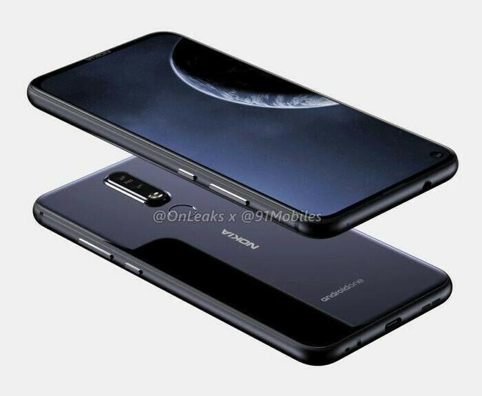 Fuite du probable Nokia 8.1 Plus avec un orifice dans l'écran pour le capteur photo frontal