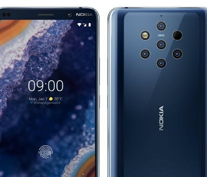 Nouveaux rendus du Nokia 9 à quelques jours du MWC 2019