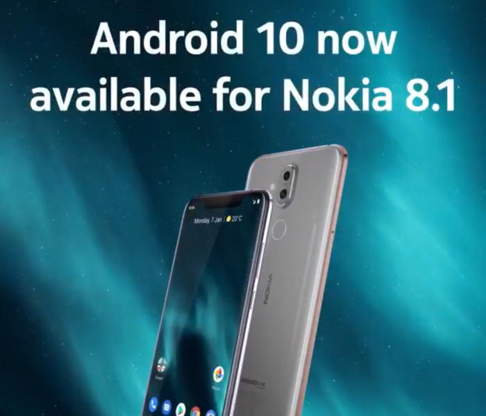 Déploiement en cours d'Android 10 pour le Nokia 8.1