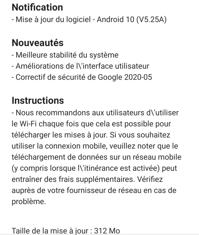 Nokia 9 android 10 juin 2020