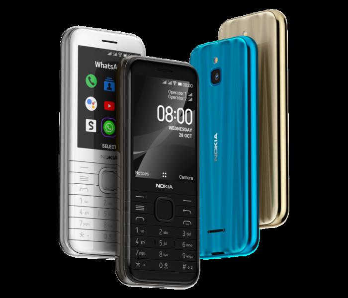 Nokia 6300 et Nokia 8000 : deux nouveaux téléphones avec modem 4G
